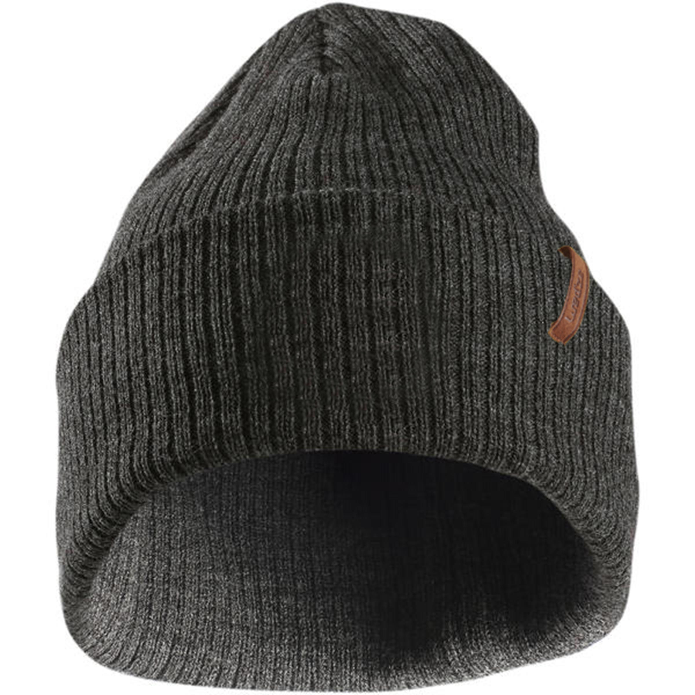 Fisherman Adult Ski Hat - Grey