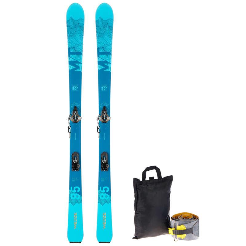 SKI TOURING Schi si Snowboard - Set schiuri MT 500  WED'ZE - Echipament pentru schi