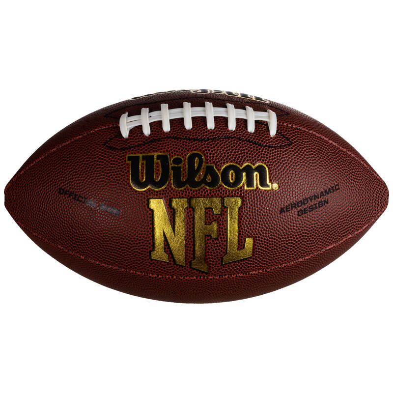 AMERICKÝ FOTBAL Americký fotbal - MÍČ NFL FORCE OFFICIAL HNĚDÝ WILSON - Míče na americký fotbal a doplňky