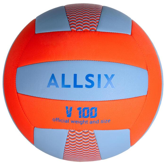 Volleybal V100 blauw en oranje
