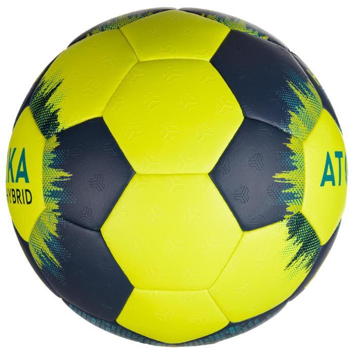 Ballon de handball H500 T3 jaune / bleu marine