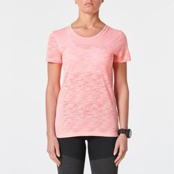 女款跑步T恤Kiprun Care - 粉紅色