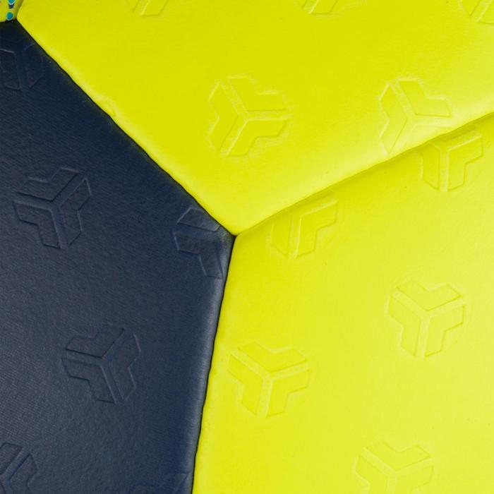 Ballon de handball H500 T3 jaune/bleu marine