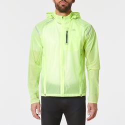 Heren regenjack voor hardlopen Kiprun Light geel