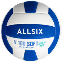 V100 Soft Volleyball for 15-Year-Olds 260-280g - White/Blue