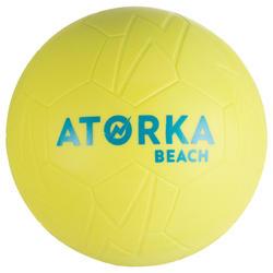 Balón de Balonmano Playa Atorka HB500B Talla 0 Amarillo