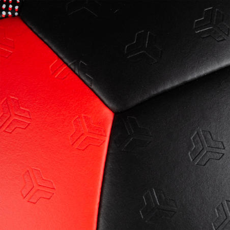 Balón de balonmano H500 T3 negro / rojo