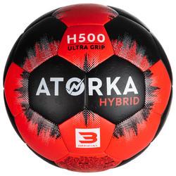 Handball H500 Größe 3 schwarz/rot