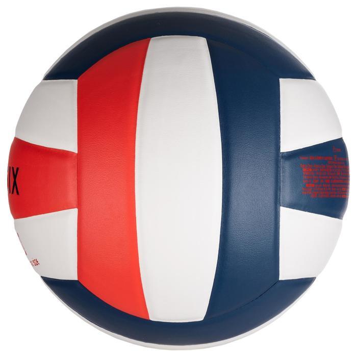 Balón de Voleibol Allsix V500 blanco azul y rojo