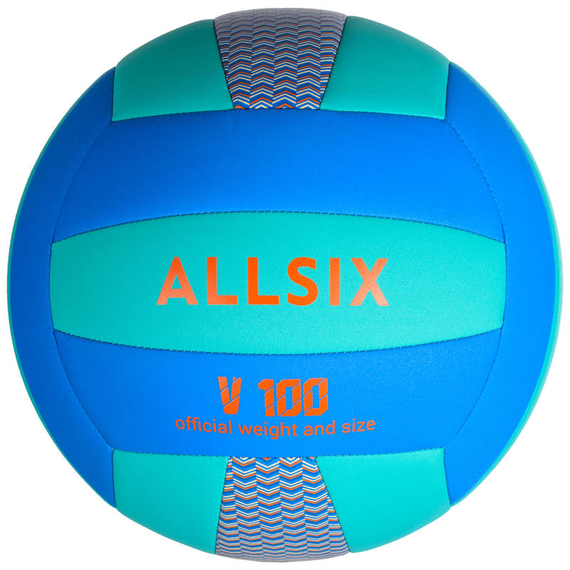 ลูกวอลเลย์บอลรุ่น V100 (สีน้ำเงิน/เขียว)