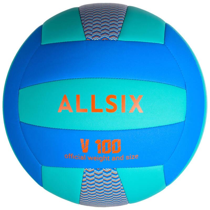 VOLEJBALOVÉ MÍČE Volejbal - MÍČ V100 MODRO-ZELENÝ ALLSIX - Volejbalové míče