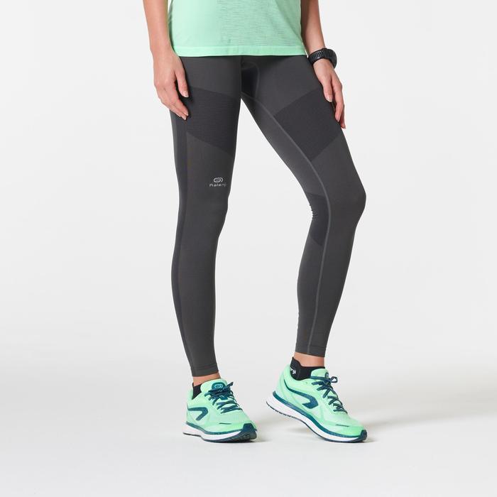 女款跑步緊身褲KIPRUN CARE - 深灰色