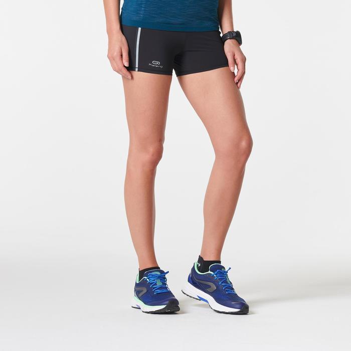 Mallas Cortas Shorts Deportivos Running Kalenji Kiprun Mujer Negro/Verde