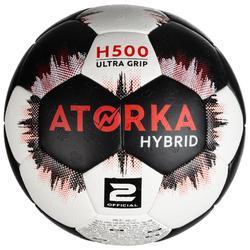 Balón de Balonmano Atorka H500 Híbrido Talla 2 Negro Blanco
