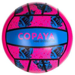 迷你沙灘排球BV100-粉紅色/藍色