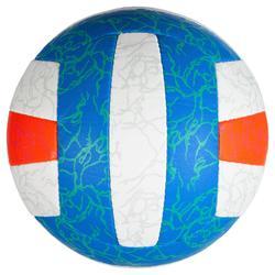 Bal voor beachvolley BV500 blauw/oranje