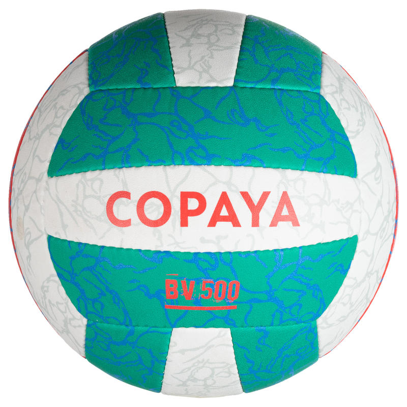 Balón de volley playa BV500 verde y rosa