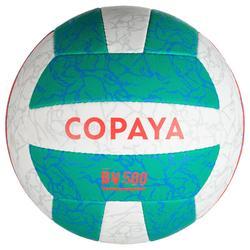 Balón Vóley Playa Copaya BV500 Verde Rosa