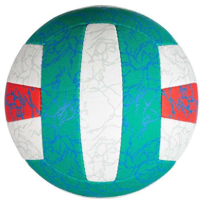 Balón de voley playa BV500 verde y rosa