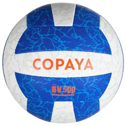 Beachvolleybal BV500 wit/blauw