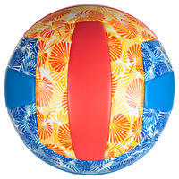 Ballon de volleyball de plage BVBS100 bleu et rose