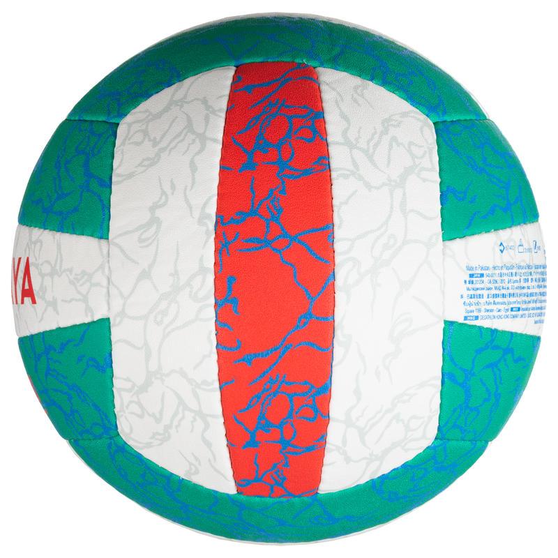 Balón de volley playa BV500 verde y rosa