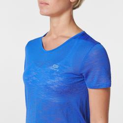 Hardloopshirt dames Kiprun Care Kalenji blauw indigo