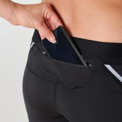 Korte hardloopbroek voor dames Kiprun Support zwart