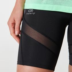 Laufshorts Tights Kiprun Support Damen schwarz