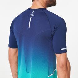 Hardloopshirt heren Kiprun Care blauw groen