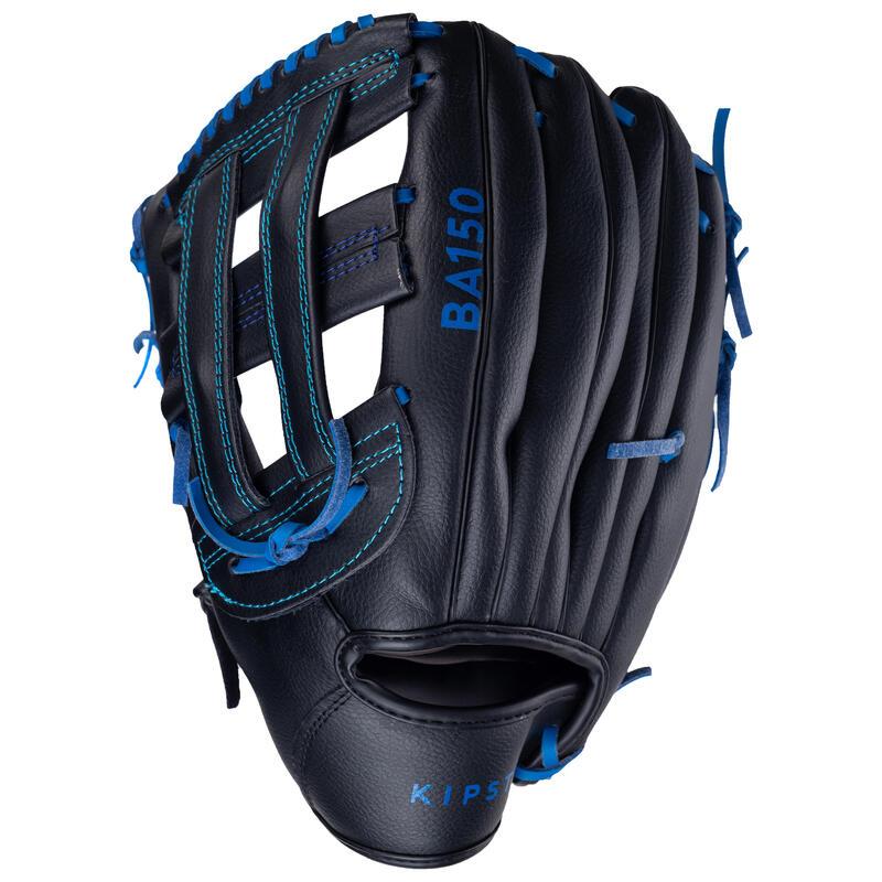 Guante Béisbol Kipsta BA150 mano derecha Negro Azul