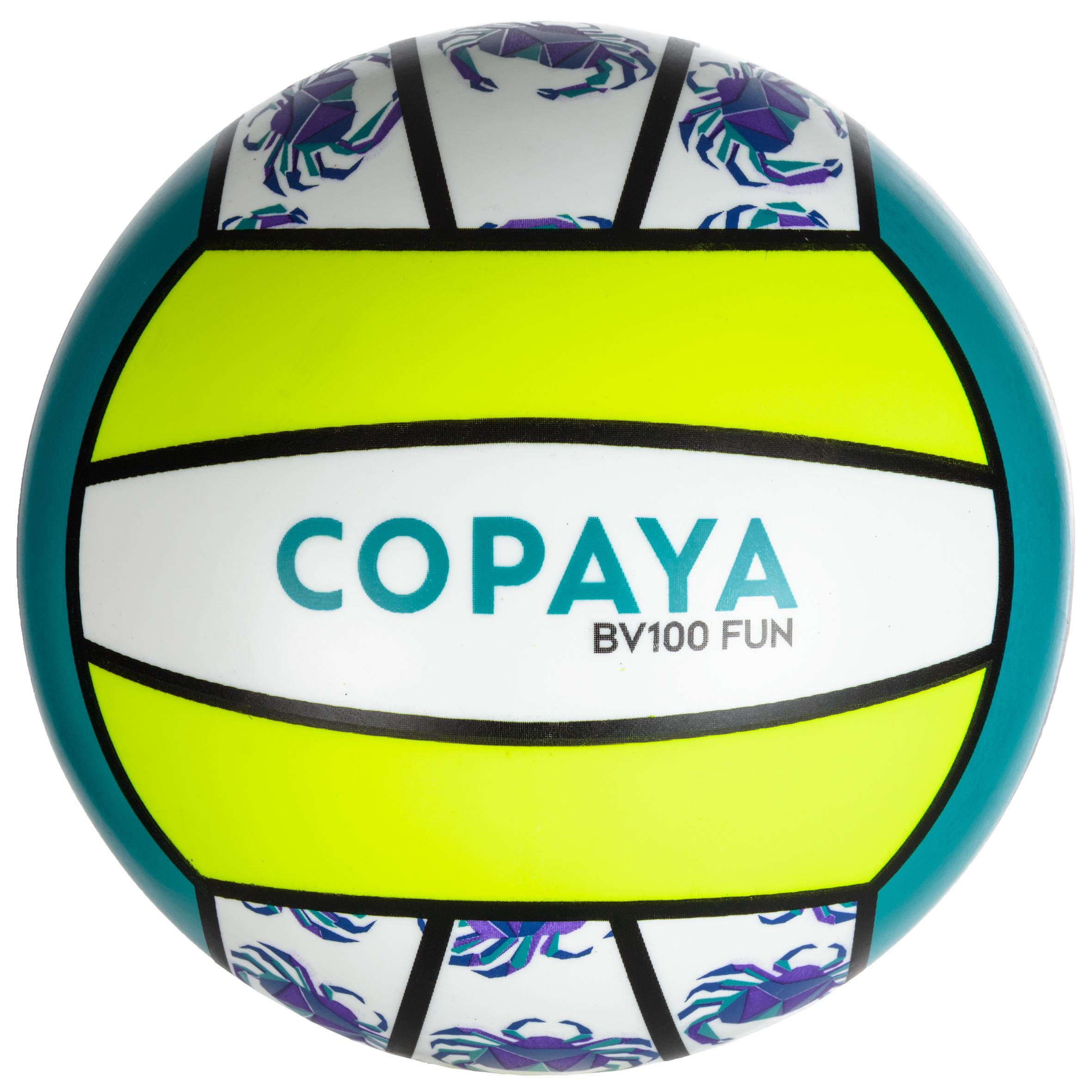 Ballon de volleyball plage VP 100 jaune et vert