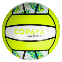 Mini ballon de beach-volley BV100 vert fluo