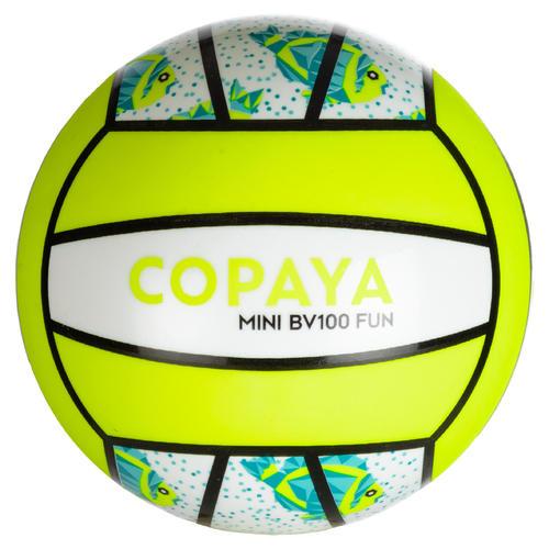 Mini ballon de beach-volley BV100 vert fluo