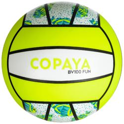 Balón Vóley Playa Copaya BV100 Blanco Amarillo