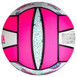 Beachvolleyball BV100 weiß/rosa