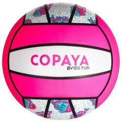 沙灘排球BV100-白色/粉紅色