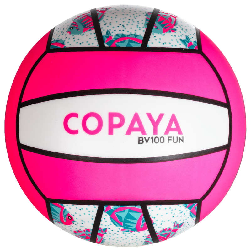 BEACH-VOLLEY Vattensport och Strandsport - BOLL BV100 FUN VIT/ROSA COPAYA - Strandspel