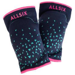 Rodilleras de Voleibol Allsix V500 azul, verde y rosa