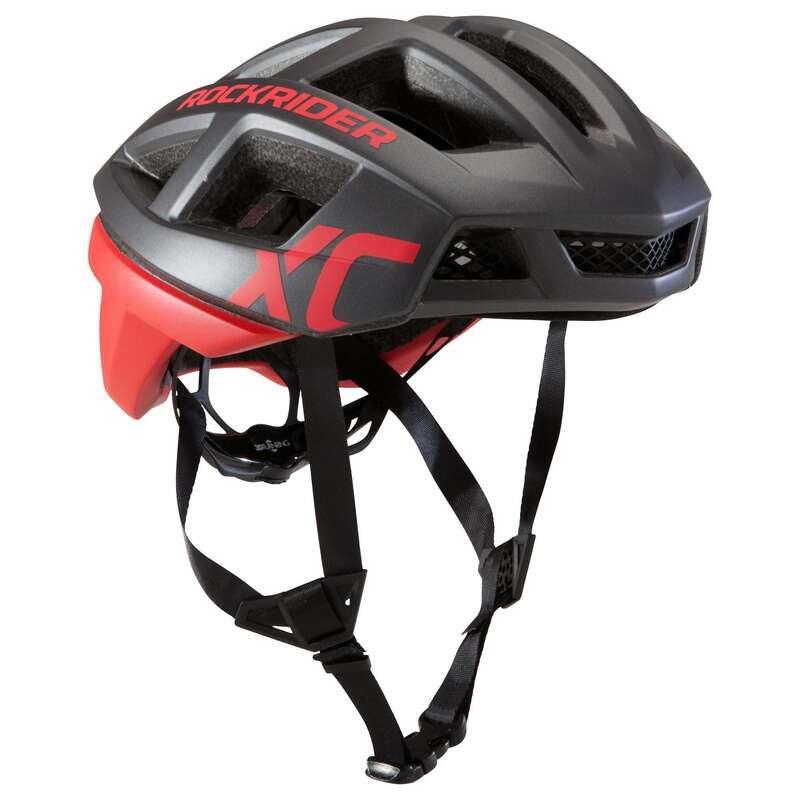 HJÄLMAR MTB CROSS COUNTRY VUXEN Cykelsport - Cykelhjälm MTB XC röd ROCKRIDER - Cykelhjälmar