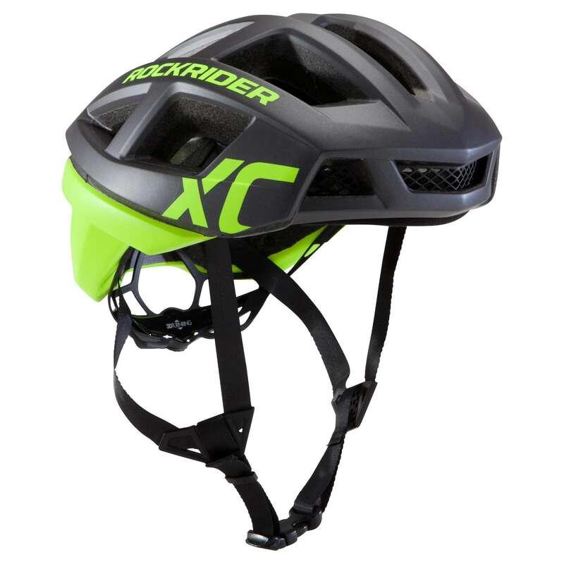HJÄLMAR MTB CROSS COUNTRY VUXEN Cykelsport - Cykelhjälm MTB XC neongul ROCKRIDER - Cykelhjälmar