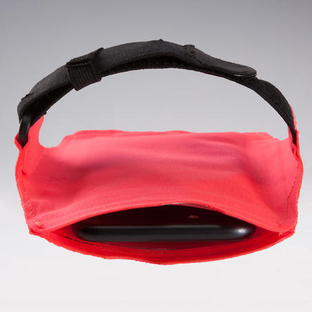 LARGE SMARTPHONE RUNNING ARMBAND NEON CORAL