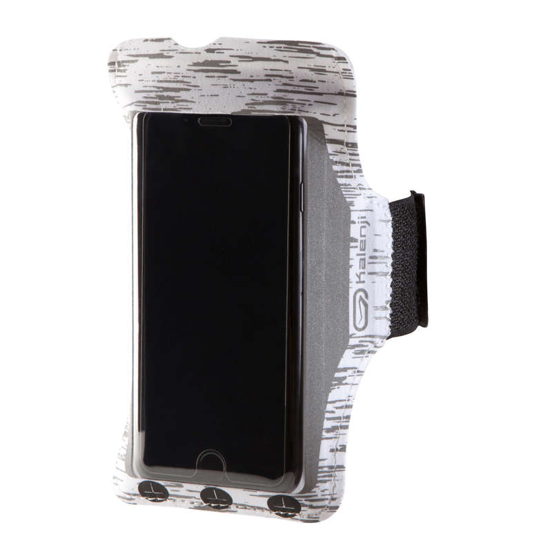 JOGGING ACCESSORIES TO CARRY Running - BIG SMARTPHONE ARMBAND WHITE KALENJI - Running Accessories