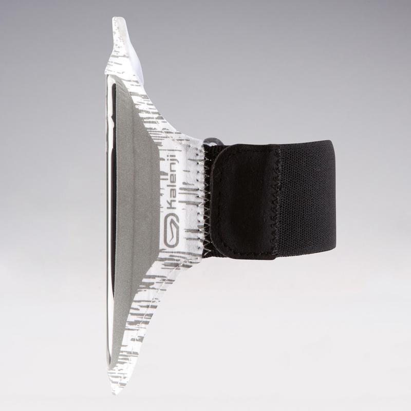 สายรัดแขนใส่สมาร์ทโฟนขนาดใหญ่ (สีขาวสะท้อนแสง)