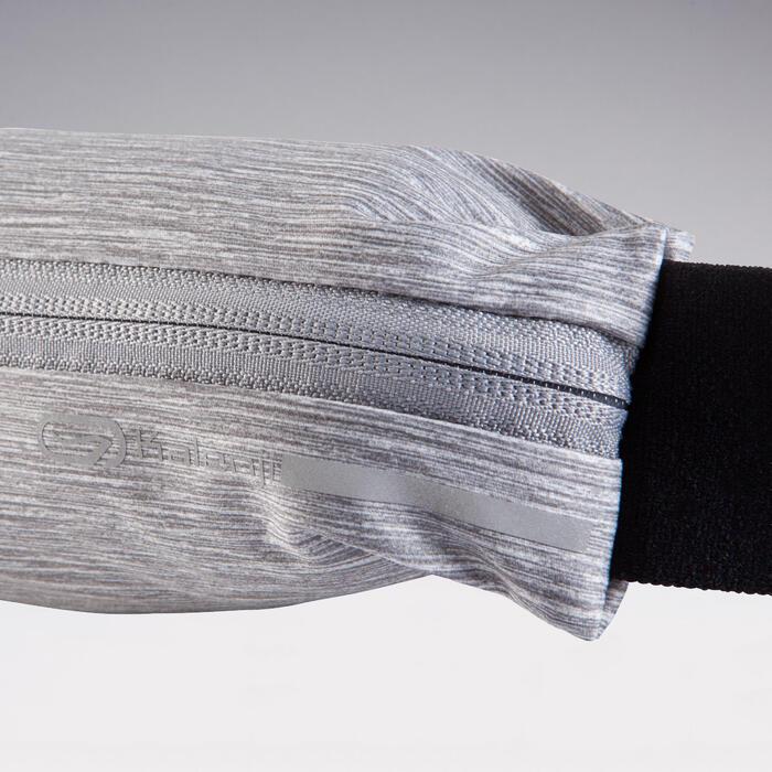 Ceinture running ajustable pour smartphone toute taille et clés grise