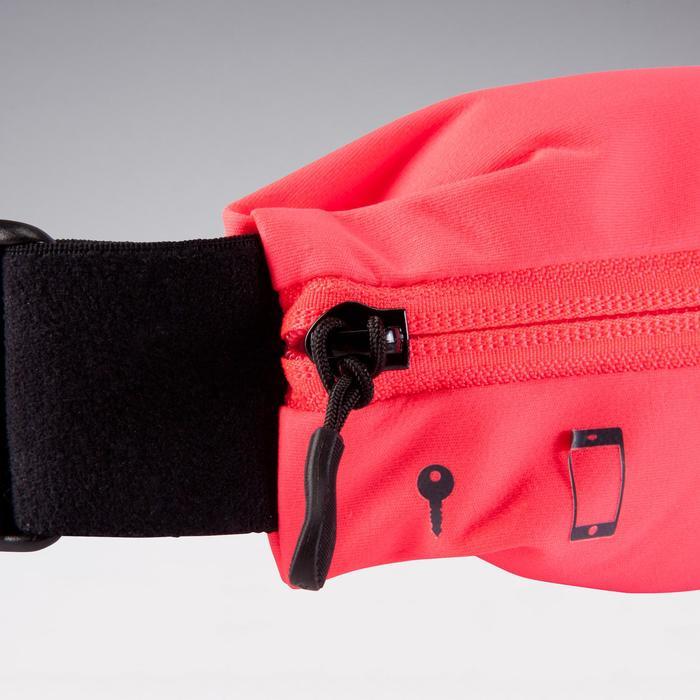 Verstelbare hardloopriem voor smartphone elk formaat en sleutels roze