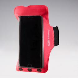 BRASSARD GRAND SMARTPHONE RUNNING ROSE CORAIL FLUO