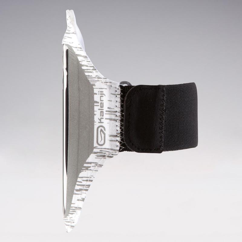 สายรัดแขนใส่สมาร์ทโฟนเพื่อการวิ่ง (สีขาวสะท้อนแสง)