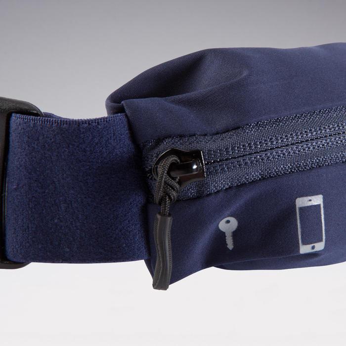 各尺寸智慧型手機與鑰匙可調式跑步帶 - 軍藍色