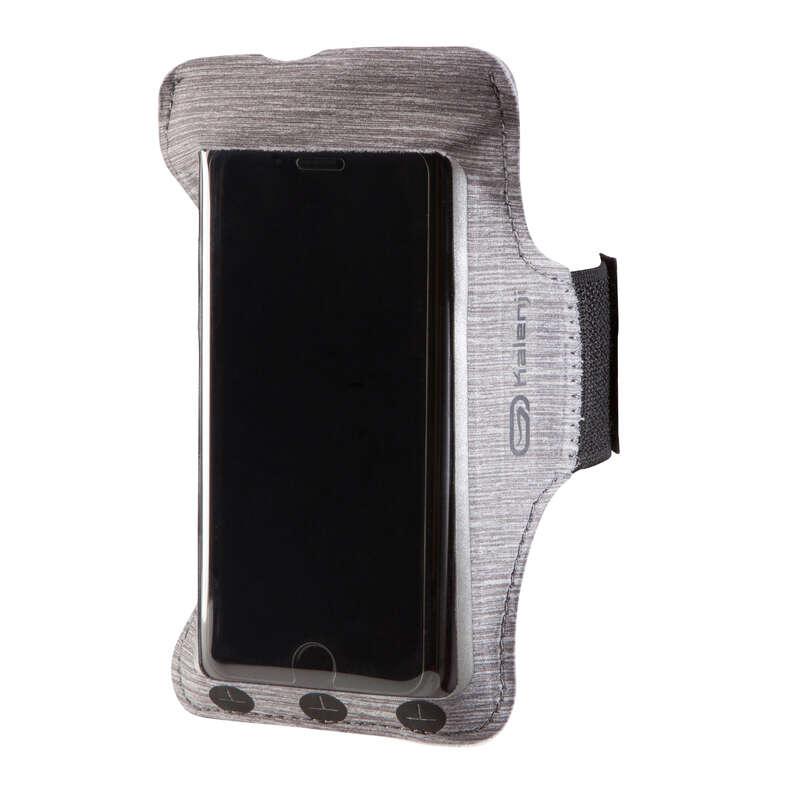 AKCESORIA TRANSPORTOWE DO BIEGANIA Bieganie - Opaska na ramię na smartfon/ etui na telefon KALENJI - Akcesoria do biegania